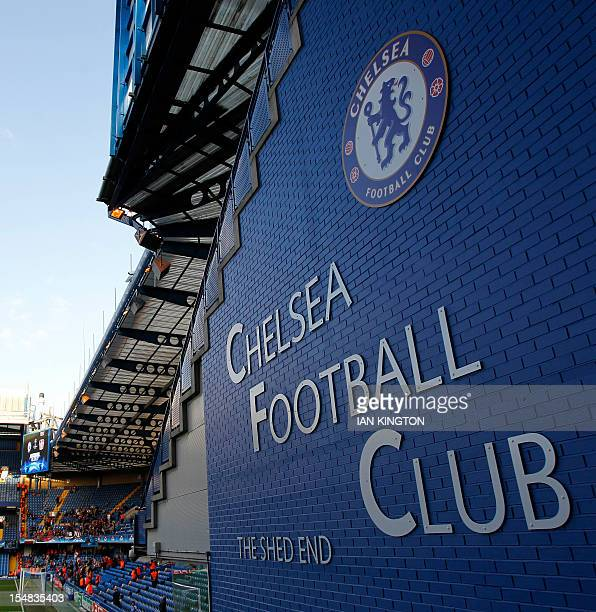 A general view of Stamford bridge is pictured before the start of the UEFA Champions League Group E football match between Chelsea and Bayer...