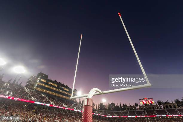 A general view of Stanford Stadium and goal posts prior to an NCAA Pac12 football game between the UCLA Bruins and the Stanford Cardinal on September...