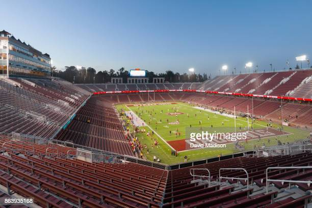 A general view of Stanford Stadium prior to an NCAA Pac12 football game between the Stanford Cardinal and the University of Oregon Ducks on October...