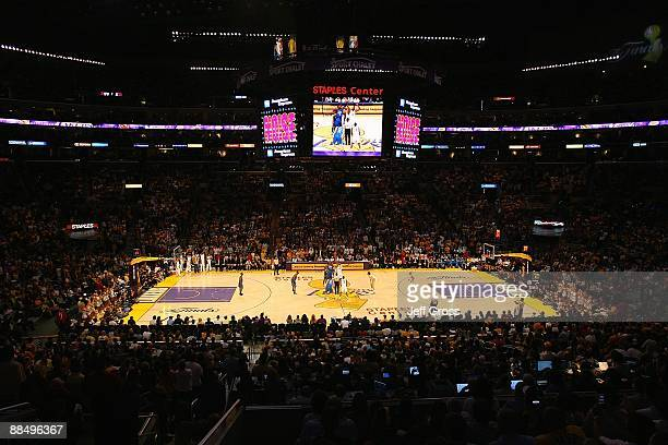 A general view of Staples Center in Game Two of the 2009 NBA Finals between the Los Angeles Lakers and the Orlando Magic on June 7 2009 in Los...