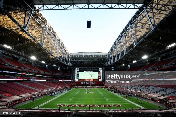General view of State Farm Stadium during the second half between the Los Angeles Rams and the Arizona Cardinals on December 06, 2020 in Glendale,...
