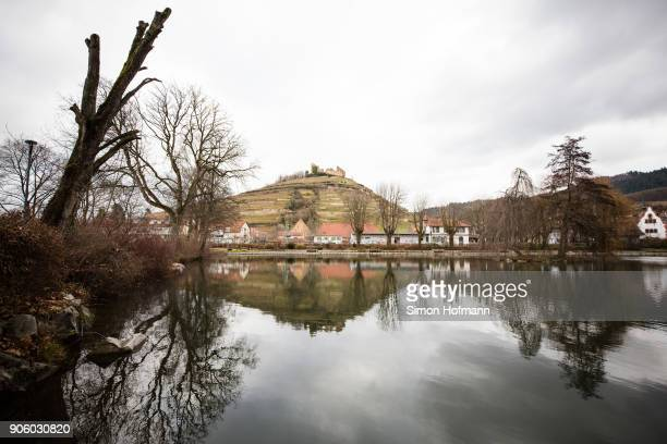 General view of Staufen city lake where the police has found a hard drive is seen on January 17, 2018 in Staufen im Breisgau, Germany. The couple...