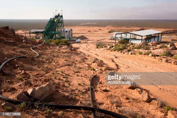 General view of Steenkampskraal rare-earth mine on July 29 about 80Km from the Western Cape town of Vanrhynsdorp. - SKK has been confirmed as one of...