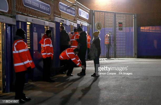 A general view of stewards stood at the entrance of St Andrew's Trillion Trophy Stadium during the Sky Bet Championship match at St Andrew's Trillion...