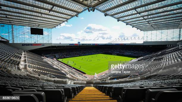 A general view of StJames' Park during a Newcastle United Open Training session at StJames' Park on August 17 in Newcastle upon Tyne England