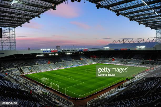 A general view of StJames' Park during the Premier League match between Newcastle United and Leicester City at StJames' Park on December 9 in...