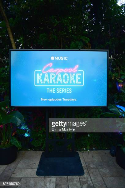 A general view of stmosphere at Apple Music Launch Party Carpool Karaoke The Series with James Corden on August 7 2017 in West Hollywood California