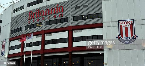 A general view of Stoke City's Britannia Stadium in StokeonTrent England on December 29 2012 AFP PHOTO/Paul Ellis PUBLICATIONS ==