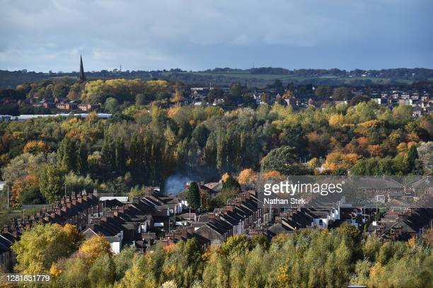 A general view of StokeonTrent as it prepares to move up to High Covid Alert Level on October 22 2020 in Hanley StokeonTrent