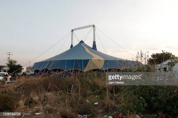 General view of stranded circus due to coronavirus on May 20 2020 in Queretaro Mexico As nonessential activities are not permitted during stage three...