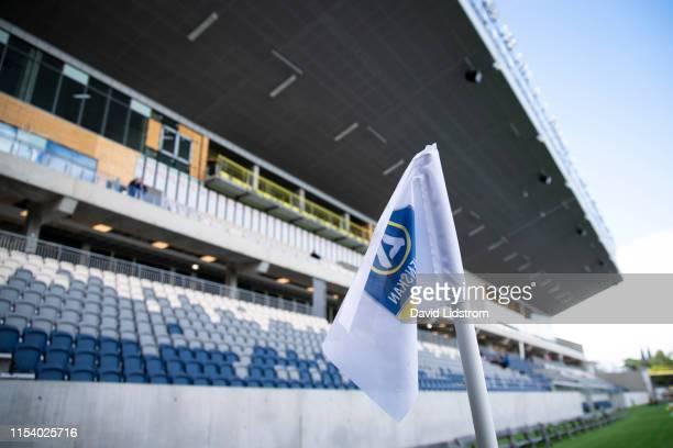 General view of Studenternas IP ahead of the Allsvenskan match between IK Sirius FK and Ostersunds FK at Studenternas IP on July 6 2019 in Uppsala...