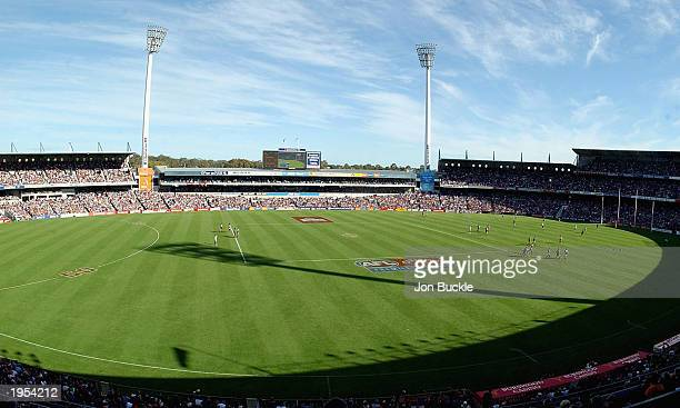 General view of Subiaco Oval during the Carlton & United Mid Derby between Dockers and the Eagles during the round five AFL match between the...