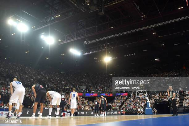 General View of Sud de France Arena of Montpellier during the World Cup Qualification match between France and Finland on September 16 2018 in...