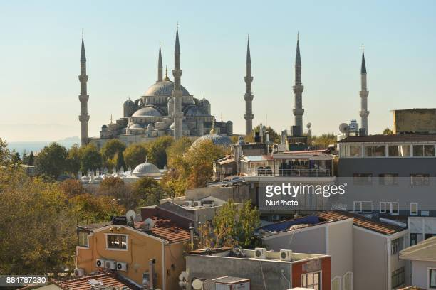 A general view of Sultan Ahmed Mosque popularly knownas Blue Mosque On Tuesday 17 October 2017 in Istanbul Turkey