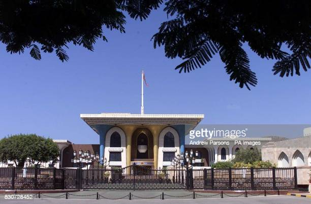 General View of Sultan of Oman Sultan Al Qaboos Palace the Al Alam Palace in Muscat
