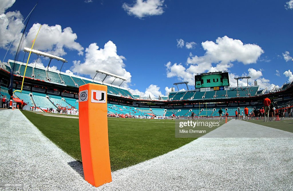 A General View Of Sun Life Stadium During A Game Between The Miami  Hurricanes And The