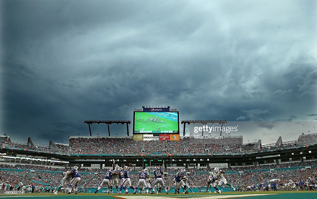 A general view of Sun Life Stadium during a game between the Miami Dolphins and the Buffalo Bills on September 27, 2015 in Miami Gardens, Florida.