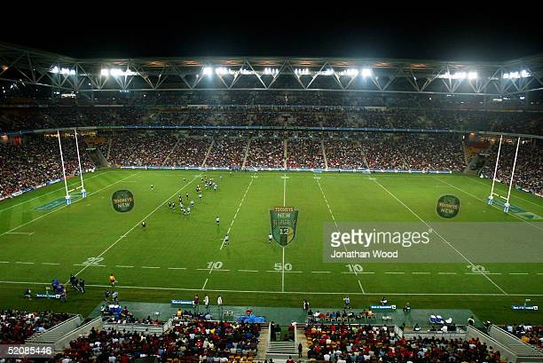 General view of Suncorp Stadium during the Super 12 match between the Queensland Reds and New South Waratahs at Suncorp Stadium May 8 2004 in...