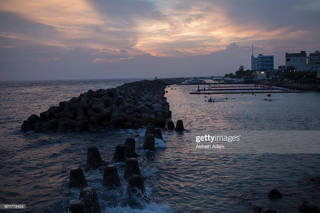 Maldives Battles With Rising Sea Levels : News Photo