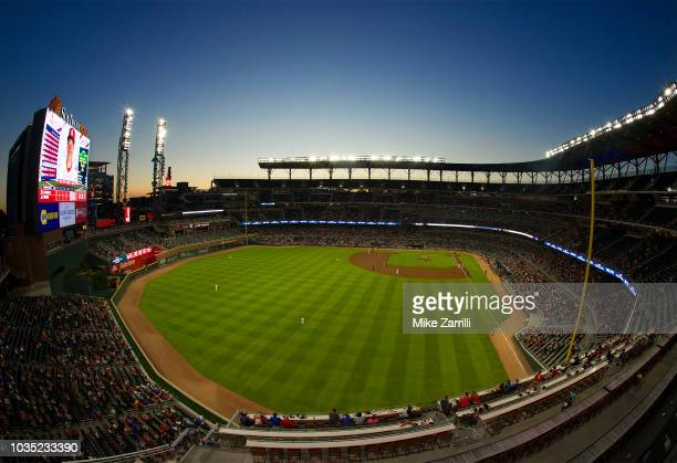 General view of SunTrust Park during the game between the Atlanta Braves and the St Louis Cardinals on September 17 2018 in Atlanta Georgia