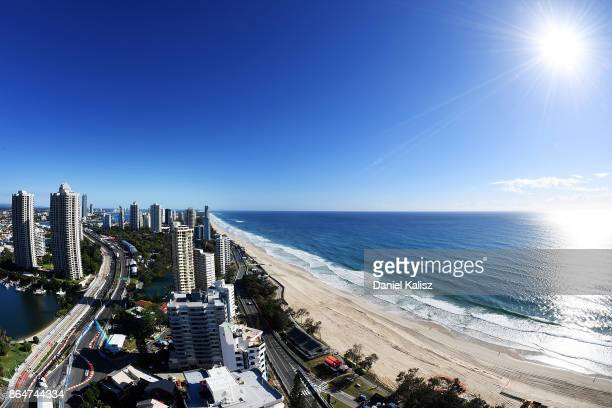 A general view of Surfers Paradise and the Gold Coast 600 circuit as seen from the Rhapsody during the Gold Coast 600 which is part of the Supercars...