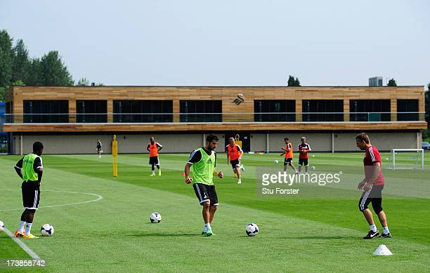 A general view of Swansea City's new Landore training complex on July 18 2013 in Swansea Wales