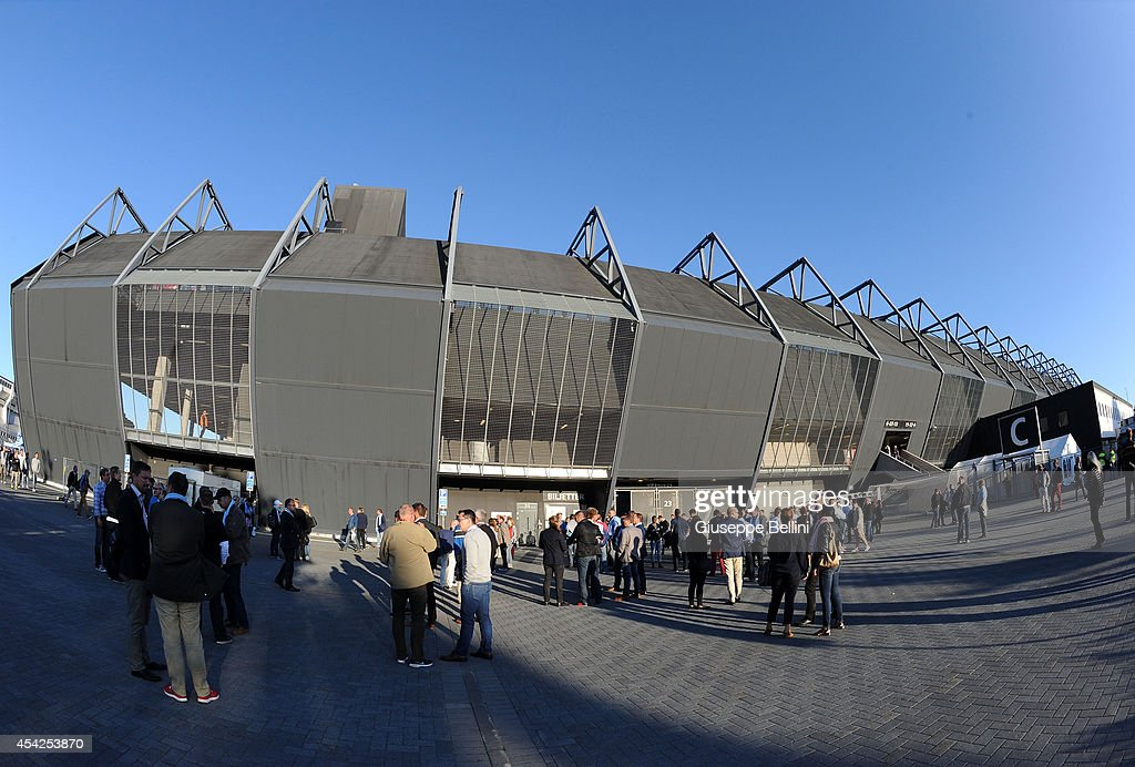 General view of Swedbank Stadion of Malmo before UEFA Champions League qualifying play-offs round second leg match between Malmo FF and Red Bull Salzburg on August 27, 2014 in Malmo, Sweden.