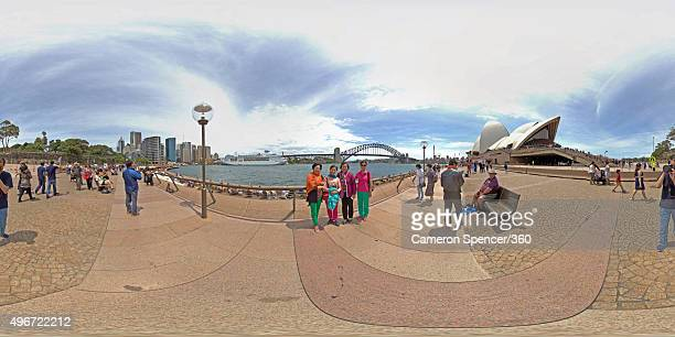 General view of Sydney Harbour from the Sydney Opera House on October 31 2015 in Sydney Australia