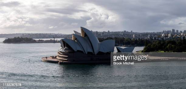 A general view of Sydney Harbour on March 03 2019 in Sydney Australia The Clean Up Sydney Harbour event was founded by the late Ian Kiernan in 1989...