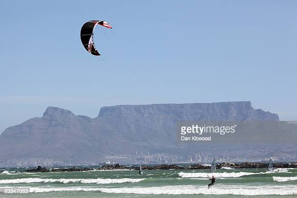 A general view of Table Mountain ahead of the 2010 FIFA world Cup on October 21 2009 in Cape Town South Africa