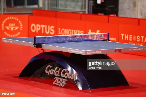 A general view of Table Tennis venue ahead of the 2018 Commonwealth Games at Oxenford Studios on March 22 2018 in Gold Coast Australia