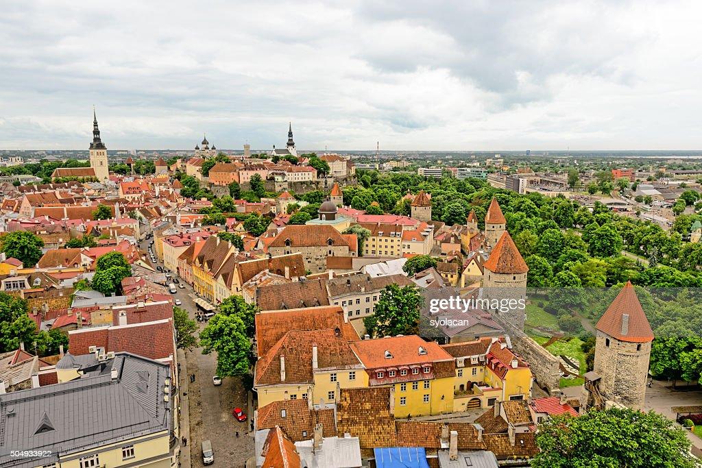 General view of Tallinn, Estonia : Stock Photo