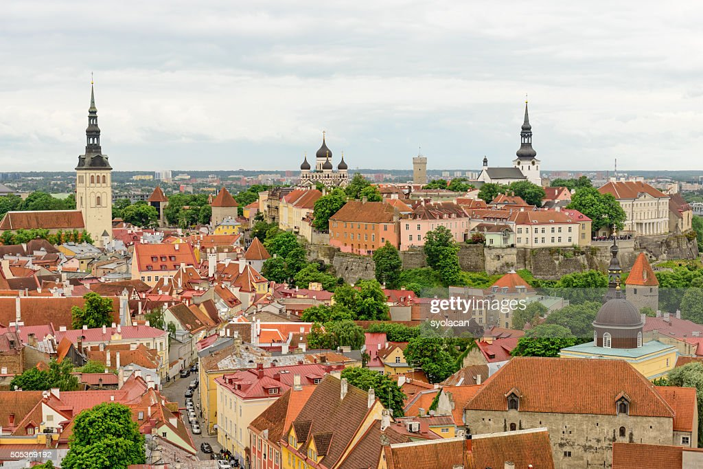 General view of Tallinn, Estonia : Stock Photo
