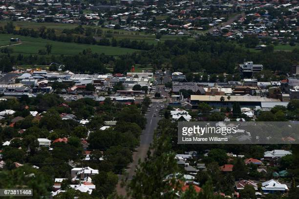 A general view of Tamworth from Oxley Park Lookout on January 30 2017 in Tamworth Australia Tamworth is a large regional city in the New England...