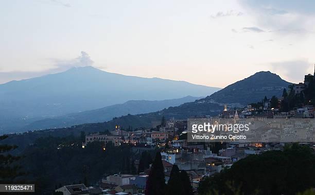 A general view of Taormina on June 11 2011 in Taormina Italy