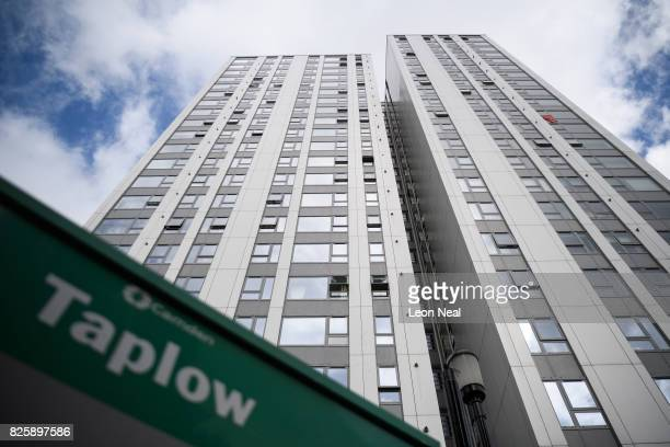 A general view of Taplow Tower in the Chalcot estate on August 3 2017 in London England Despite ongoing concerns over the potential fire risk of the...