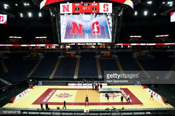 A general view of Target Center before the start of the match between the Stanford Cardinal and the Nebraska Cornhuskers on December 15 2018 at...