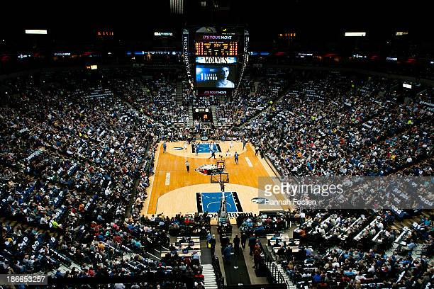 General view of Target Center during the game between the Minnesota Timberwolves and the Orlando Magic on October 30, 2013 in Minneapolis, Minnesota....
