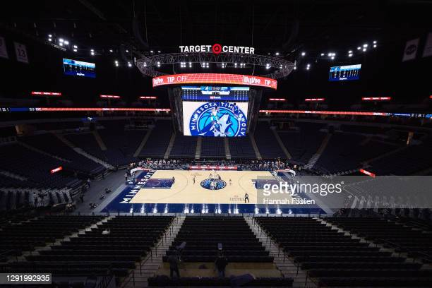 General view of Target Center during the preseason game between the Minnesota Timberwolves and the Memphis Grizzlies on December 12, 2020 in...