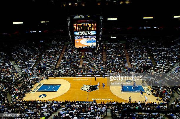 General view of Target Center during the second quarter of the season opening game between the Minnesota Timberwolves and the Orlando Magic on...