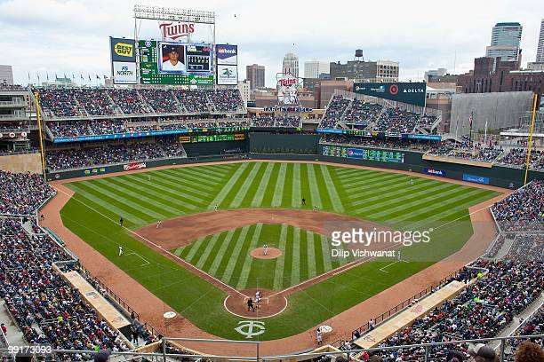 A general view of Target Field as the Minnesota Twins play against the Baltimore Orioles at Target Field on May 8 2010 in Minneapolis Minnesota The...