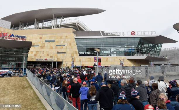 General view of Target Field before the Opening Day game between the Minnesota Twins and the Cleveland Indians on March 28, 2019 at Target Field in...