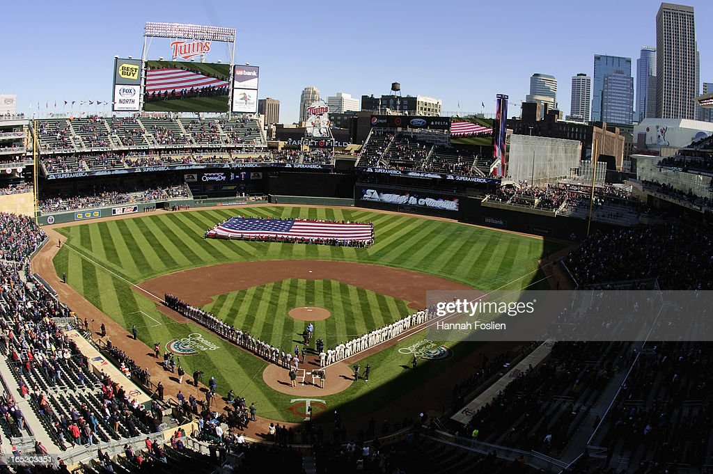 A general view of Target Field before the Opening Day game between the Minnesota Twins and the Detroit Tigers on April 1, 2013 at Target Field in Minneapolis, Minnesota. The Tigers defeated the Twins 4-2.