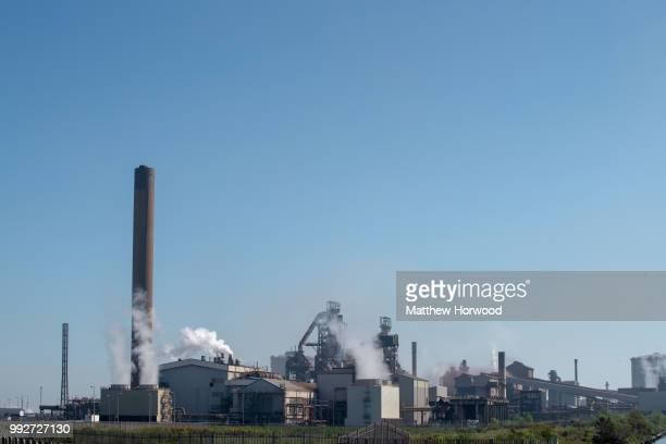General view of Tata Steel steelworks on May 06, 2018 in Port Talbot, United Kingdom. Tata and ThyssenKrupp have announced plans to merge - the...