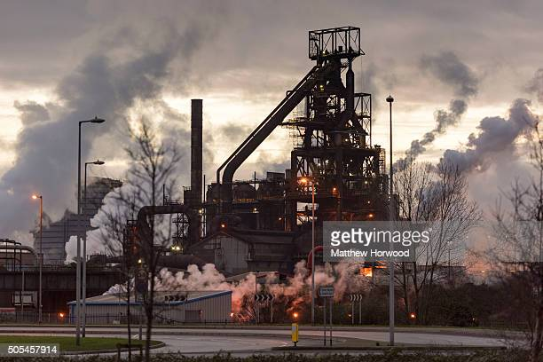 General view of Tata Steel's Port Talbot Plant on January 16, 2016 in Port Talbot, Wales. Tata Steel is expected to make an announcement that they...
