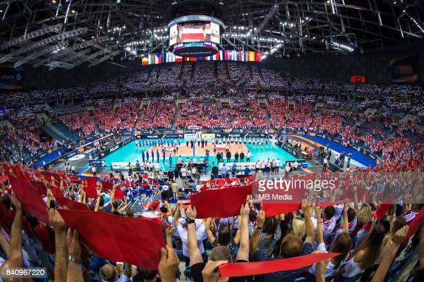 General view of Tauron Arena during the European Men's Volleyball Championships 2017 playoff match between Poland and Slovenia on August 30 2017 in...