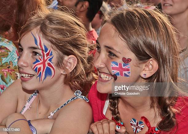 General view of Team GB supporters during BT London Live at Hyde Park on August 11 2012 in London United Kingdom
