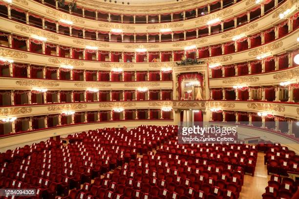 General view of Teatro Alla Scala on November 05, 2020 in Milan, Italy.