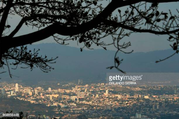 General view of Tegucigalpa taken on May 13 2018 Missionaries from the United States who met three Honduran exmembers of the Mara Salvatrucha gang...
