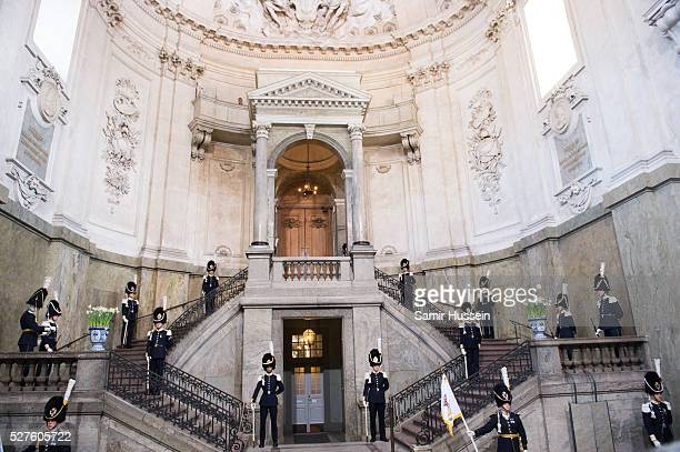 A general view of teh Royal Palace ahead of the Te Deum Thanksgiving Service to celebrate the 70th birthday of King Carl Gustaf of Sweden on April 30...